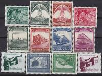 Nazi 3rd Reich 12 Rarer Issues 1935 - 1938 MINT!!