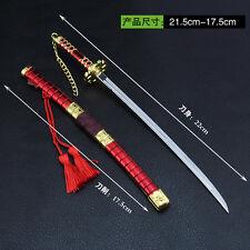 1/5 One Piece Roronoa Zoro TRAFALGAR LAW Sword katana 9inch toys RED MOON