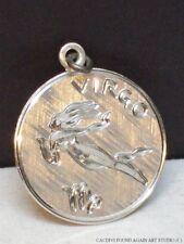 Sterling Silver Zodiac Sign Virgo Charm Vintage Pendant Astrology Disk Wells 925
