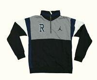 Nike Jordan RE2PECT 1/4 Pullover Varsity Fleece Gray Blue Black Large