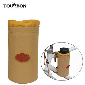 TOURBON Bicycle Water Bottle Holder Phone Bag Fixs on Bike Waterproof Cup Case