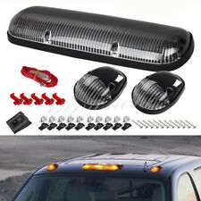 3x Smoke Cab Maker Roof Running Amber LED Lights For Chevy Silverado/GMC Sierra