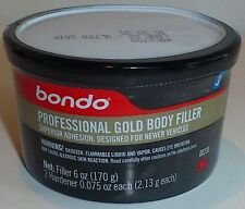 BONDO PROFESSIONAL GOLD BODY FILLER, Single Use 6 oz New 00230