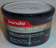 BONDO PROFESSIONAL GOLD BODY FILLER, Single Use 6 oz New 00230