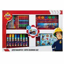 Super Malkoffer | Feuerwehrmann Sam | Kinder Kreativ Set mit viel Zubehör