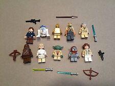 LEGO lot of 10 Star Wars Good Guy Minifigs Yoda Luke Leia Han R2-D2 Chewie I377
