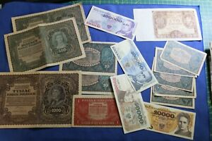 POLAND LOT: 16 better BANKNOTES 1919- / INTERESTING LOT :) -->many more auctions