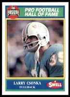 1990 Hall of Fame Green #136 Larry Csonka HOF RARE Miami Dolphins / Syracuse