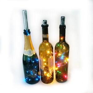 LED Fairy Light Wine Bottle String Lights Cork Copper Wire Christmas Decor SG