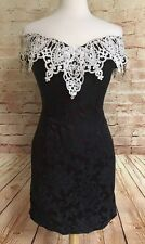Jessica McClintock Bridal Vintage Bridesmaid Dress Purple Tapestry Lace Collar