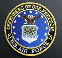 AIR FORCE USAF DEFENDERS OF OUR FREEDOM EMBROIDERED JACKET PATCH 5 INCHES