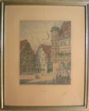 Original Etching/Radierung Rothenburg ob der Tauber, WILHELM SCHACHT  Germany