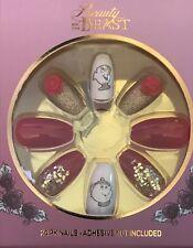 False Nails Set Ladies Disney Beauty & The Beast Chip Fake Gift Primark 24 Pack