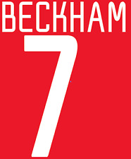 Manchester United Beckham Nameset Shirt Soccer Number Letter Heat Football 02 H