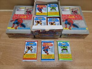 1991 Marvel Universe Cards. 2nd Series. (1) Unsearched Sealed Pack. 12 Cards🔥