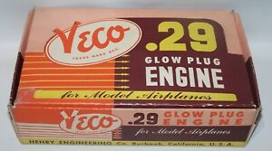 New In Box 1950 Veco .29 Glow Control Line  Model Airplane Engine