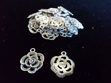 Tibetian Silver Lead Free Pewter Charms/Flower