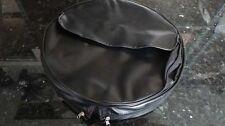 """Vespa Lambretta 10"""" inch Black spare tire tyre cover w/ bag VLB GL GS LI TV 8268"""