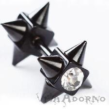 DILATATORE FINTO Galleria PIERCING ORECCHIO cristalli zirconi PICCHI PUNK