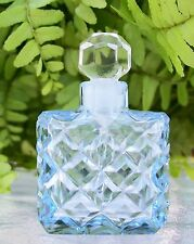 Vintage Czech Perfume/Scent Bottle~BLUE~Dauber Intact~Rare~Miniature~Collectible