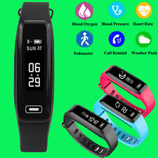Bluetooth Blood Pressure Oxygen Heart Rate Monitor Smart Band Bracelet Watch G15