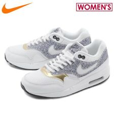 Nike Women's Air Max 1 SE OLYMPIC GOLD White Black MultiColor Grey OREO Sz 7