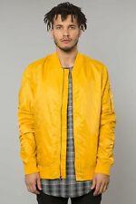 Men's Elwood Yellow Gold Nylon Bomber Jacket Size S Large L S2B1