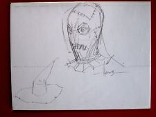 ALE GARZA ORIGINAL SKETCH ART Scarecrow Batman SIGNED 8.5x11 DC Grimm Fairy