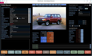 Car Vehicle Bike Trailer Service and Maintenance Software for Windows CDROM