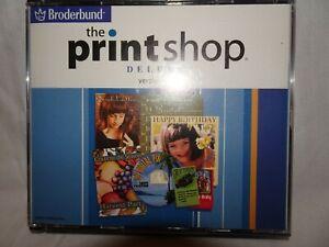 BRODERBUND THE PRINT SHOP DELUXE 4X CD 2002 WINDOWS 98/2000/ME/XP