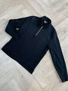Fab Men's black 1/4 zip Sweatshirt by ASOS, Size M