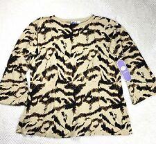 Dg2 Womens Sweater Top Plus Size Diane Gilman Animal Print Pullover Knit Soft