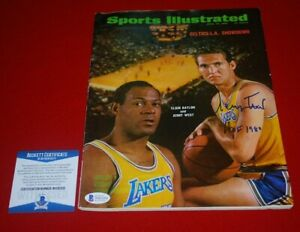 JERRY WEST Los Angeles Lakers signed SPORTS ILLUSTRATED Magazine HOF 1980 BAS