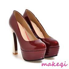 2017Sexy Women Platform High Heel Pumps Shoes Patent Leather Plus Size Nightclub