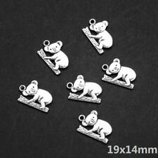 10 PCS Tibetan Silver Crafts Making Jewelry Koala Bear Charms Pendants 19*14mm