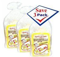 Rika Cuban Crackers Butter Flavor 12 oz. Pack of 3