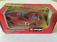 BBURAGO BURAGO FERRARI 308 GTB RALLY COD. 4148 ANNEE 1983 ECHELLE 1/43 EN BOITE