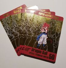 Carte Dragon Ball Z Spécial Limited 50 Gogeta Gold card