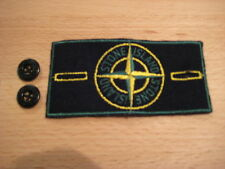 Vintage Old School Stone Island Compass Badge and Button Set Patch + Knöpfe Neu