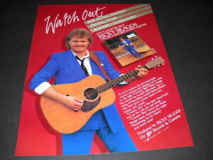 RICKY SKAGGS Flyning Fingers-Crying Steel-Soaring Harmonies 1984 Promo Poster Ad