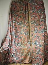 Anciens rideaux fin XIX début XX chinoiserie. Rare! Antique drapes curtains