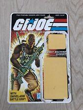 New listing Vintage Gi Joe Roadblock Cardback File Card 1984