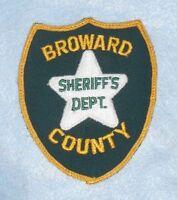 "Broward County Sheriff's Dept Patch - Florida - vintage - 3 7/8"" x 4 5/8"""