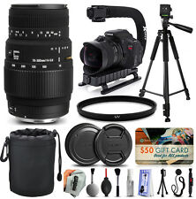 Sigma 70-300mm F4-5.6 DG Macro Lens for Nikon + Starter Plus Accessory Kit
