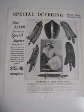 Vintage Brochure Fur Coats H.D. Fertel New York Animal Lovers Will Hate This