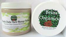 Organic Chebe Herb Mango Butter 16 oz., Chocolate Hair Cream, Brina Organics