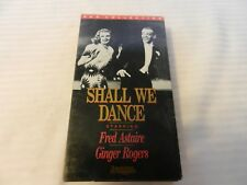 Shall We Dance (VHS, 1996) Fred Astaire, Ginger Rogers, RKO Collection