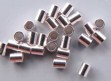Sterling Silver 3mm Crimps 43045 (20) Tube ID 2.2mm For .019- 024in wire
