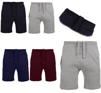 NEW MENS SWEAT SHORTS PIQUE COTTON SUMMER JOGGING GYM RUNNING 2 POCKETS PLAIN JO