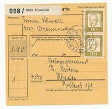 Bund Paketkarte ALTENMUHR 1966 nach RHEDA (55136)
